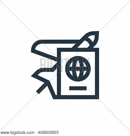 travel icon isolated on white background from hobbies collection. travel icon thin line outline line