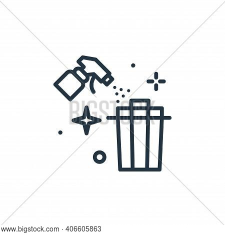 trash icon isolated on white background from hygiene collection. trash icon thin line outline linear