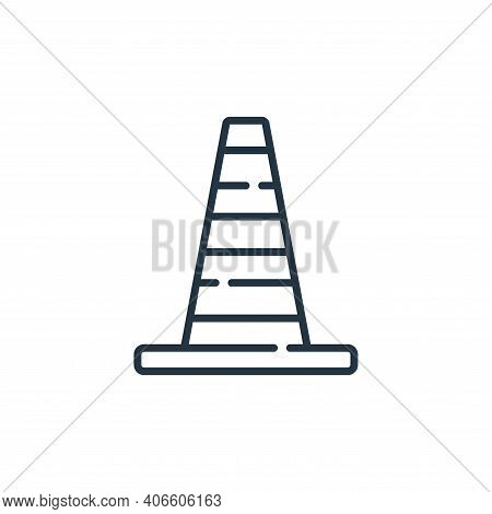 traffic cone icon isolated on white background from auto racing collection. traffic cone icon thin l