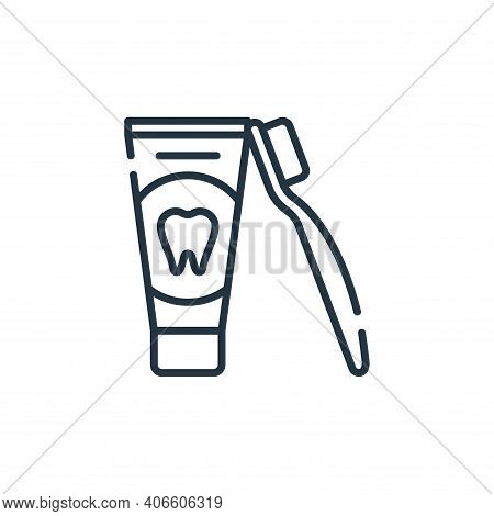 toothpaste icon isolated on white background from dental care collection. toothpaste icon thin line