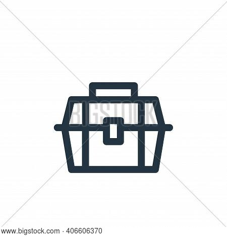 toolbox icon isolated on white background from labour day collection. toolbox icon thin line outline