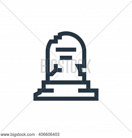 tomb icon isolated on white background from history collection. tomb icon thin line outline linear t