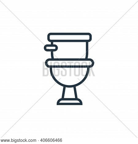 toilet icon isolated on white background from railway collection. toilet icon thin line outline line