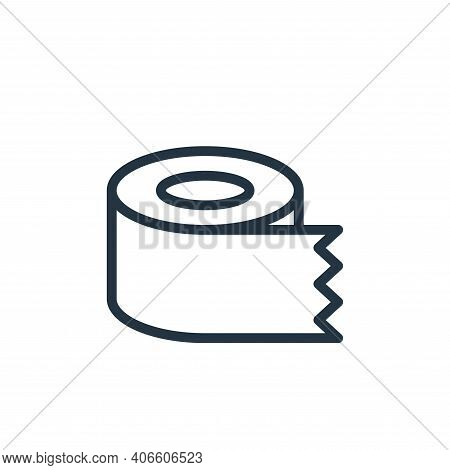 tissue roll icon isolated on white background from work office supply collection. tissue roll icon t