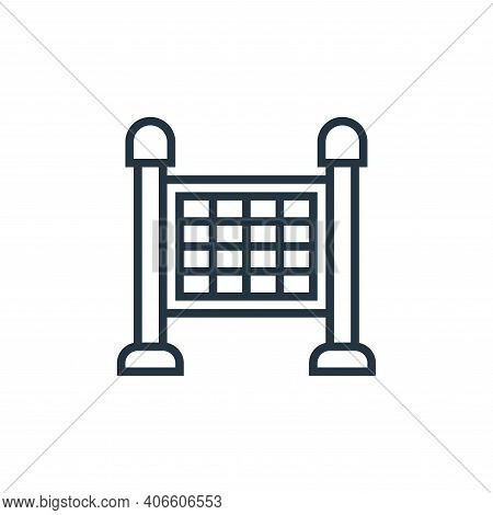 timetable icon isolated on white background from railway collection. timetable icon thin line outlin