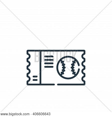 ticket icon isolated on white background from baseball collection. ticket icon thin line outline lin