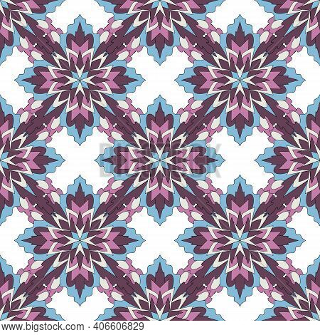 Tribal Vector Ornament. Seamless African Pattern. Ethnic Carpet With Chevrons And Triangles. Aztec S