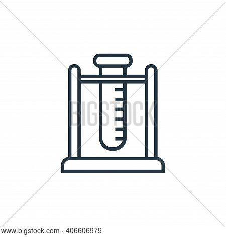 test tube icon isolated on white background from medical tools collection. test tube icon thin line