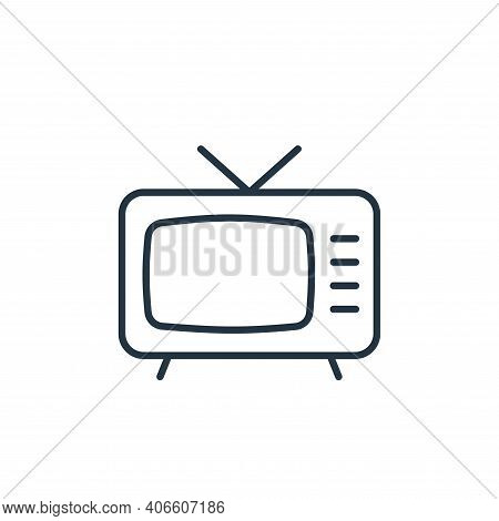 television icon isolated on white background from cinema collection. television icon thin line outli