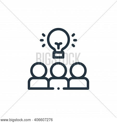 teamwork icon isolated on white background from design thinking collection. teamwork icon thin line