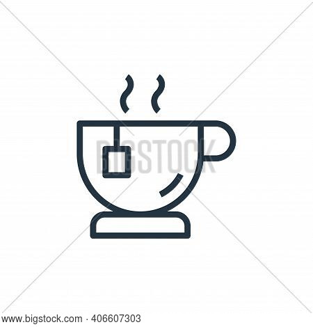 tea icon isolated on white background from stay at home collection. tea icon thin line outline linea