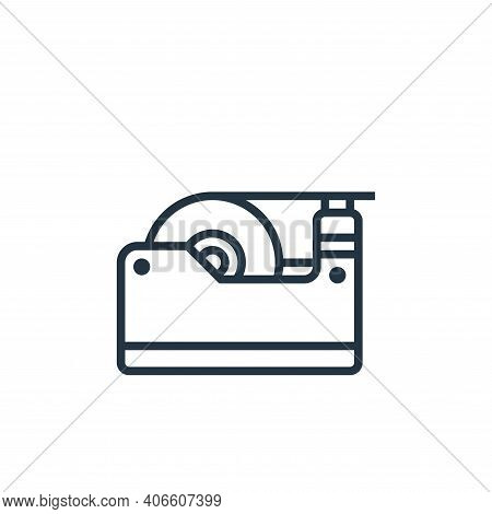 tape dispenser icon isolated on white background from stationery collection. tape dispenser icon thi