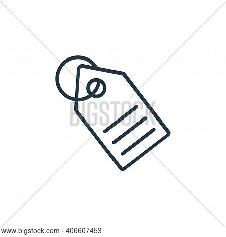 tag icon isolated on white background from shopping line icons collection. tag icon thin line outlin