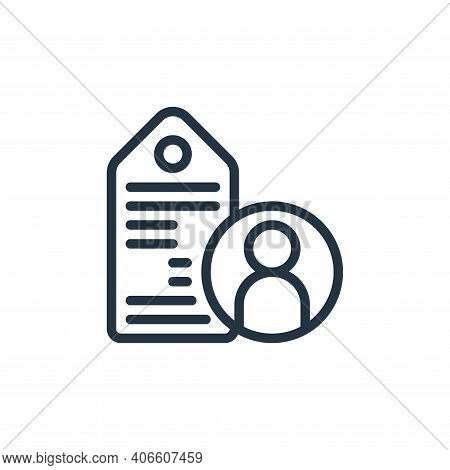 tag icon isolated on white background from business collection. tag icon thin line outline linear ta
