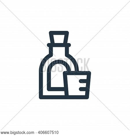 syrup icon isolated on white background from medicine collection. syrup icon thin line outline linea