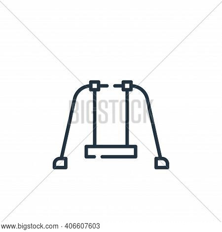 swing icon isolated on white background from circus collection. swing icon thin line outline linear