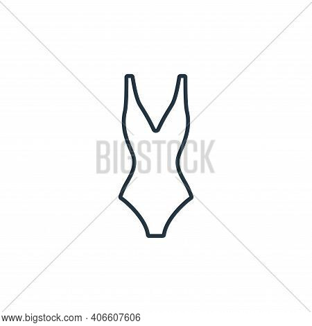 swimsuit icon isolated on white background from clothes and outfit collection. swimsuit icon thin li