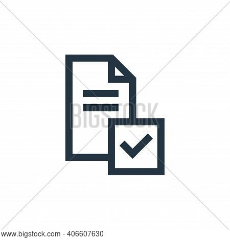 survey icon isolated on white background from feedback and testimonials collection. survey icon thin