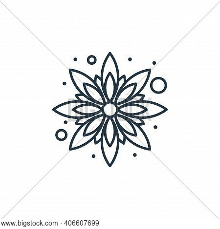 sunflower icon isolated on white background from brazilian carnival collection. sunflower icon thin