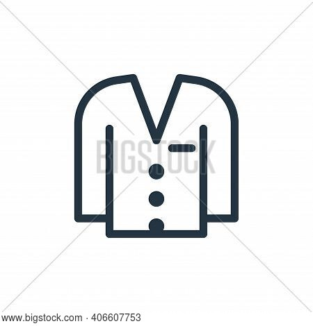 suit icon isolated on white background from fashion collection. suit icon thin line outline linear s