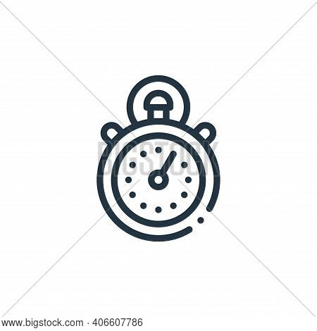 stopwatch icon isolated on white background from autoracing collection. stopwatch icon thin line out