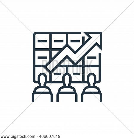 stock market icon isolated on white background from economic crisis collection. stock market icon th