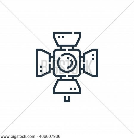 spotlight icon isolated on white background from videoblogger collection. spotlight icon thin line o