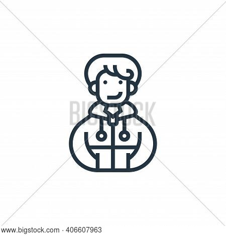 Sportswear icon isolated on white background from fitness collection. Sportswear icon thin line outl