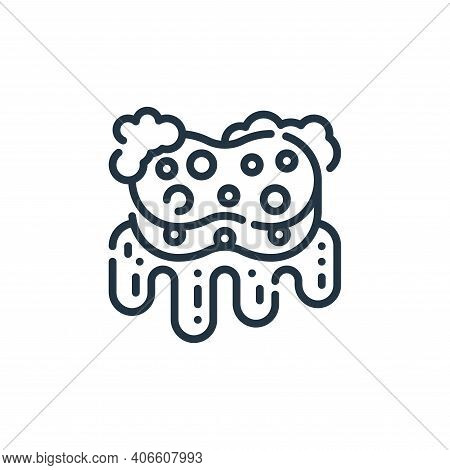 sponge icon isolated on white background from cleaning collection. sponge icon thin line outline lin