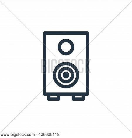 sound icon isolated on white background from technology collection. sound icon thin line outline lin