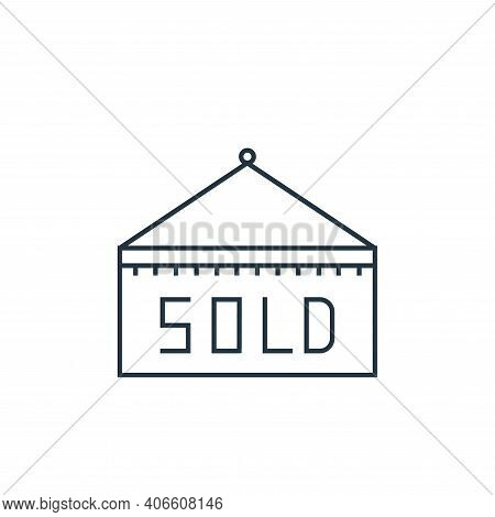 sold out icon isolated on white background from online shopping collection. sold out icon thin line