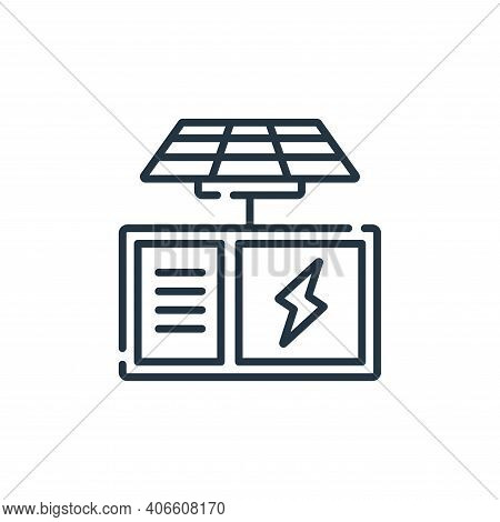 solar panel icon isolated on white background from electrician tools and elements collection. solar