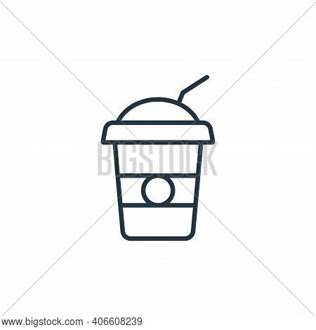 soda icon isolated on white background from cinema collection. soda icon thin line outline linear so