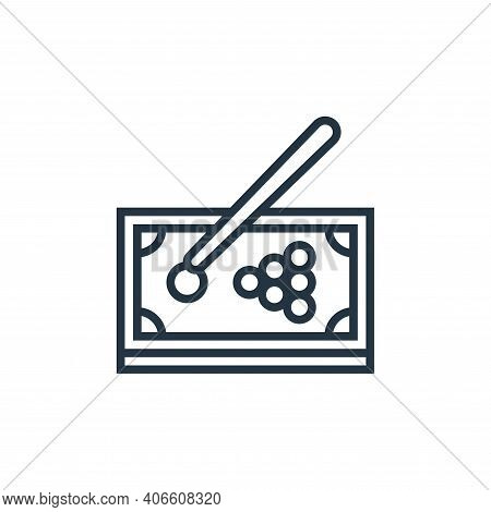 snooker icon isolated on white background from casino collection. snooker icon thin line outline lin