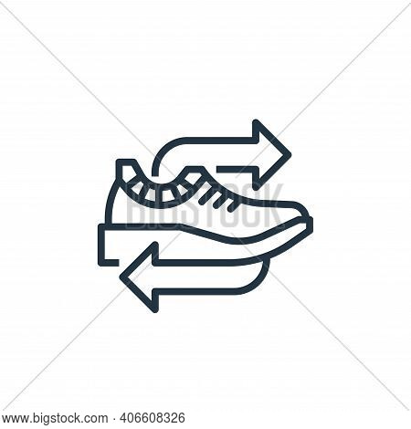sneaker icon isolated on white background from recycling collection. sneaker icon thin line outline