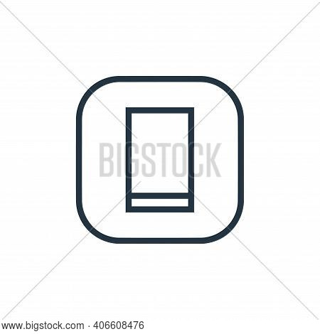 smartphone icon isolated on white background from hardware and gadgets collection. smartphone icon t