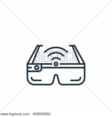 smart glasses icon isolated on white background from internet of things collection. smart glasses ic