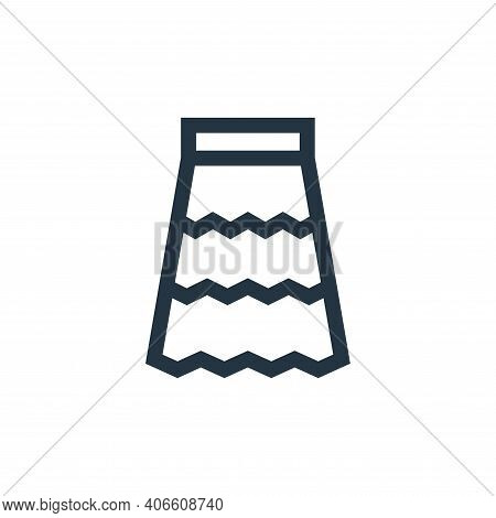 skirt icon isolated on white background from hippies collection. skirt icon thin line outline linear