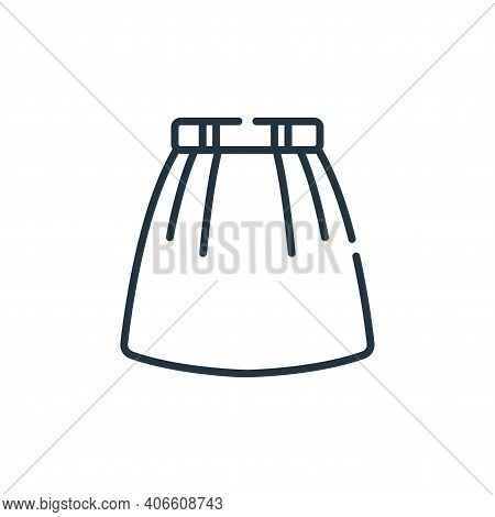 skirt icon isolated on white background from sewing collection. skirt icon thin line outline linear