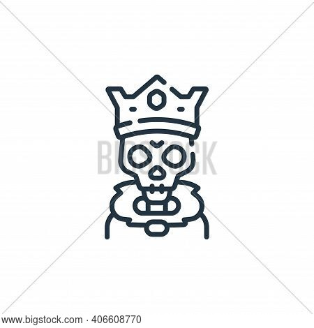 skeleton icon isolated on white background from fantastic characters collection. skeleton icon thin