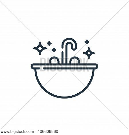 sink icon isolated on white background from hygiene routine collection. sink icon thin line outline