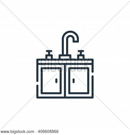 sink icon isolated on white background from cleaning collection. sink icon thin line outline linear