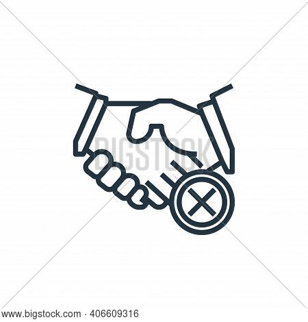 Shaking Hands Vector Icon From Wash Hands Collection Isolated On White Background
