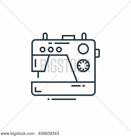 sewing machine icon isolated on white background from technology devices collection. sewing machine