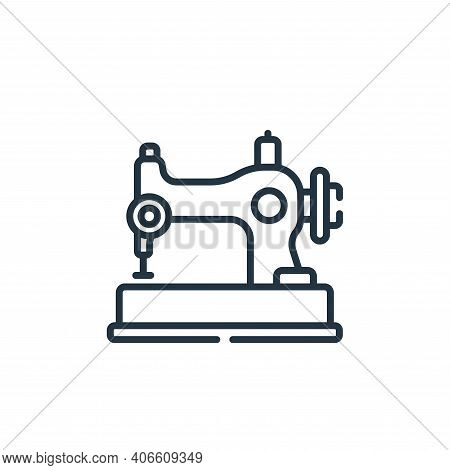 sewing machine icon isolated on white background from sewing collection. sewing machine icon thin li