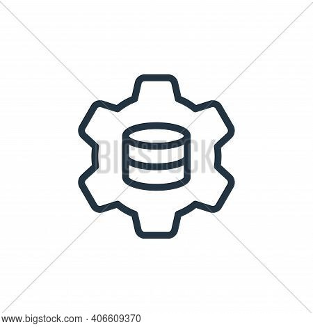 settings icon isolated on white background from work office server collection. settings icon thin li
