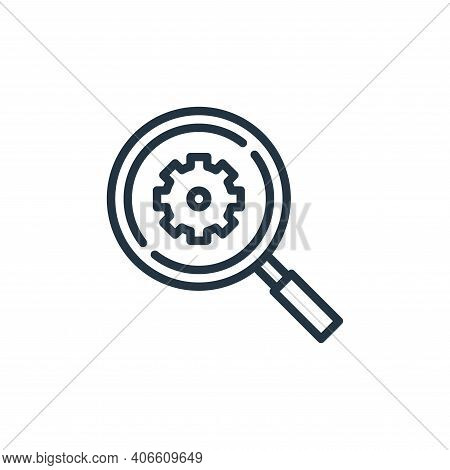 search icon isolated on white background from engineering collection. search icon thin line outline