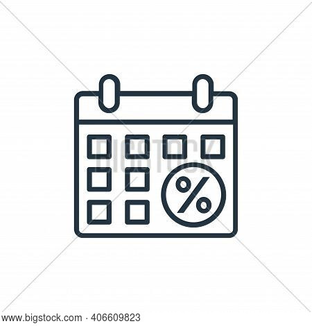 schedule icon isolated on white background from shopping line icons collection. schedule icon thin l