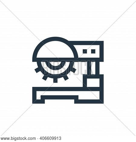 saw machine icon isolated on white background from manufacturing collection. saw machine icon thin l