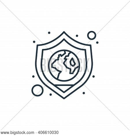 save the planet icon isolated on white background from earth day collection. save the planet icon th